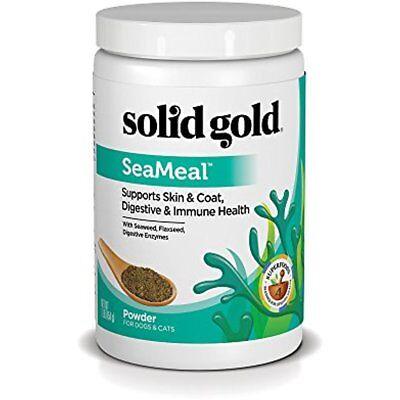 Solid Gold Dry Dog Food SeaMeal Kelp Supplement Powder Skin & Coat Digestive 1lb