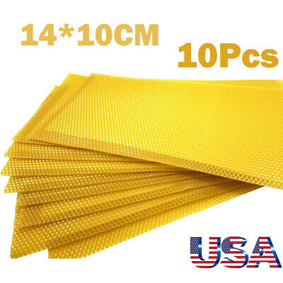 10pcs Honeycomb Foundation Bees Wax Frames Beekeeping Honey Hive Bee Equipment
