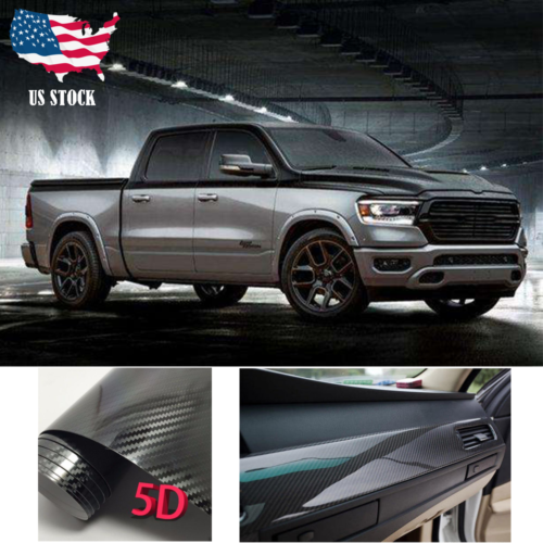 Car Body Sticker Dual Racing Stripe Decal Vinyl Black Accessories For RAM 1500