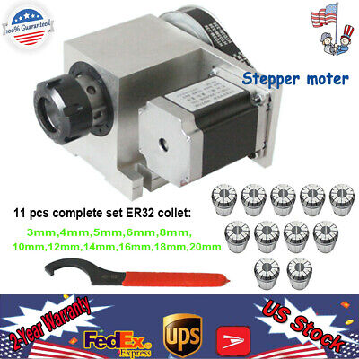 Cnc Router Rotational Rotary Axis 4th-axis Er32 Collet Set 3-20mm Chuck