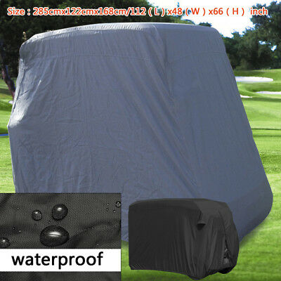 4 Passenger Club Car Golf Cart Cover Enclosure Fits EZ GO,Club Car,Yamaha+Zipper