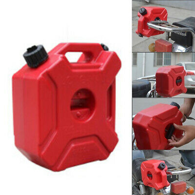 Motorcycle 5l Portable Jerry Can Gas Plastic Car Fuel Tank Petrol Atvutv Gokart