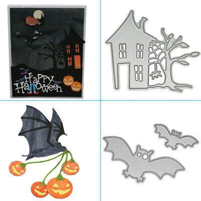 DIY Halloween Metal Cutting Dies Stencil Scrapbook Paper Card Embossing Die-cut](Diy Halloween Paper Crafts)