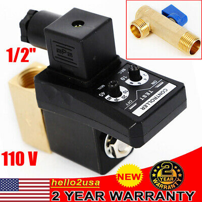 Auto Automatic Timed Electronic Drain Valve For Air Compressor Water Tank 12