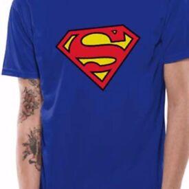 SUPERMAN LOGO T SHIRT ADULT SIZES 4XL, 5XL
