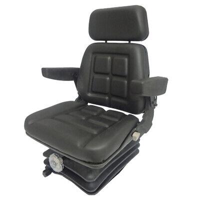 Vam8110 Seat Assembly Kit Black Vinyl Seat W Arm Rests Mechanical Suspension