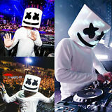 US MarshMello DJ Helmet Eye Mask Full Head Cosplay Costume Mask Bar Music Props