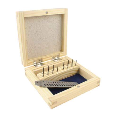 Jewelers Micro Tap and Die Set 15 pcs Plus a Wooden Box - 28-620
