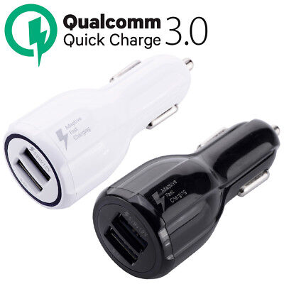 Qualcomm Qc3 0 Certified Quick Charge Dual 2 Usb Port Qc3 0 Fast Car Charger 36W