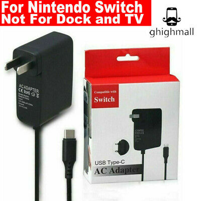 Type C Cable 2.4A For Nintendo Switch or LITE Fast Charging Charger AC Adapter