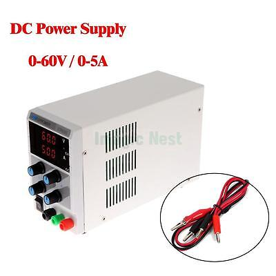 60v 5a Dc Regulated Power Supply Adjustable Variable Digital Lab Grade W Cable