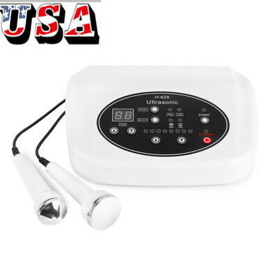Ultrasonic Two Probes Ultrasound Therapy Skin Lifting Anti Aging Beauty Machine