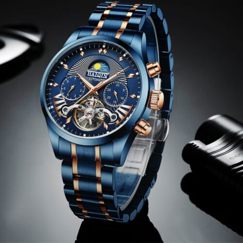 Swiss Brand Automatic Mechanical Tourbillon Men Watches Stainless Steel Sapphire