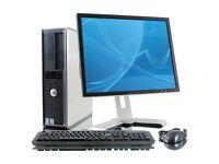 PROFESSIONALLY REFURBISHED DELL COMPUTER MONITOR KEYBOARD MOUSE 4GB RAM 160GB HD 6 MTHS WARRANTY