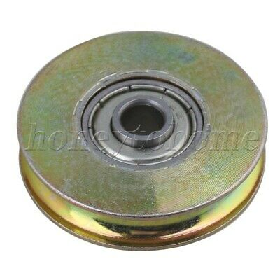 U Groove Sealed Ball Bearing 38mm Id Wire Rope Track Guide Pulley Bearing Steel