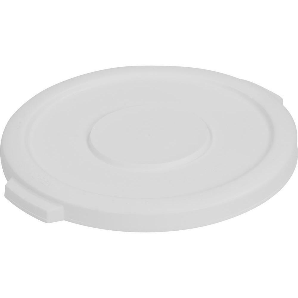 Carlisle 34101102 Bronco 10 Gal. White Round Trash Can Lid
