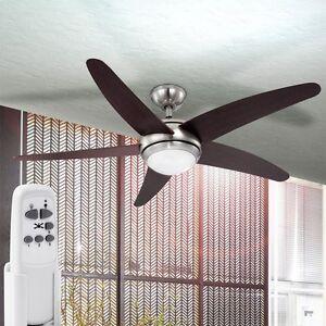Decken Ventilator FERNBEDIENUNG Leiser Wind Lüfter mit Beleuchtung Dimmbar Lampe