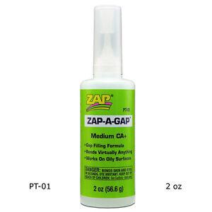 Zap-A-Gap PT01 CA+ Super Glue Medium Viscosity (2 oz / 56.6 g)