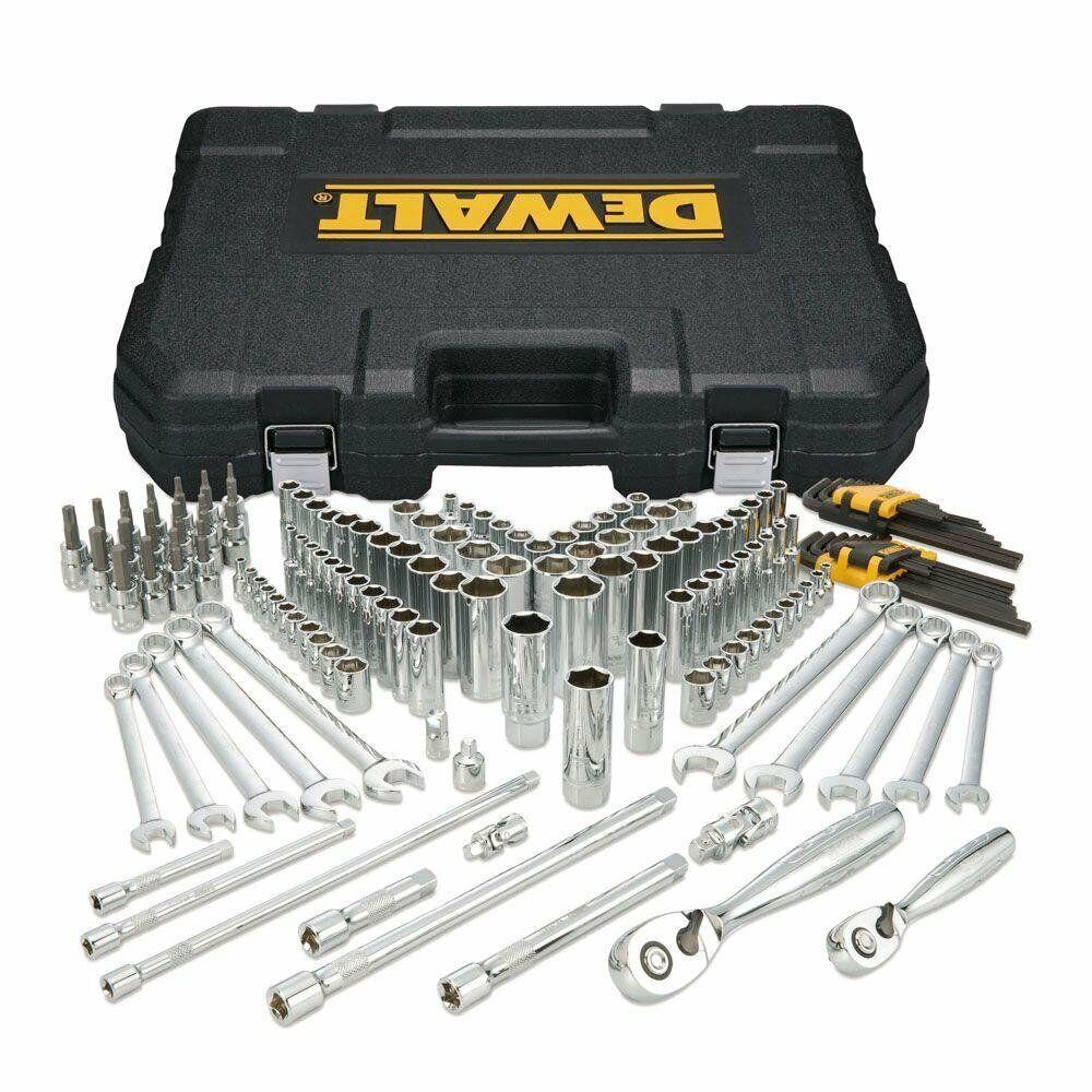 156-Piece DEWALT Socket & Mechanics Tools Set, Ratchet Joint