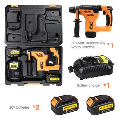2 For Dewalt 20v Batterynz-80 Max 600w Brushless Rotary Hammerdcb105 Charger