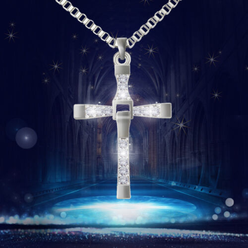 Necklace - Cross Pendant Necklace Silver Stainless Steel Unisex's Chain Crucifix Men Women