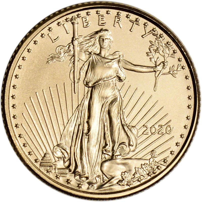 2020 American Gold Eagle 1/10 oz $5 - BU