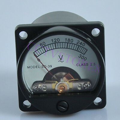 Panel Meter Analog Ac 300v Warm Back Light Volt Voltage Voltmeter Audio Tube Amp
