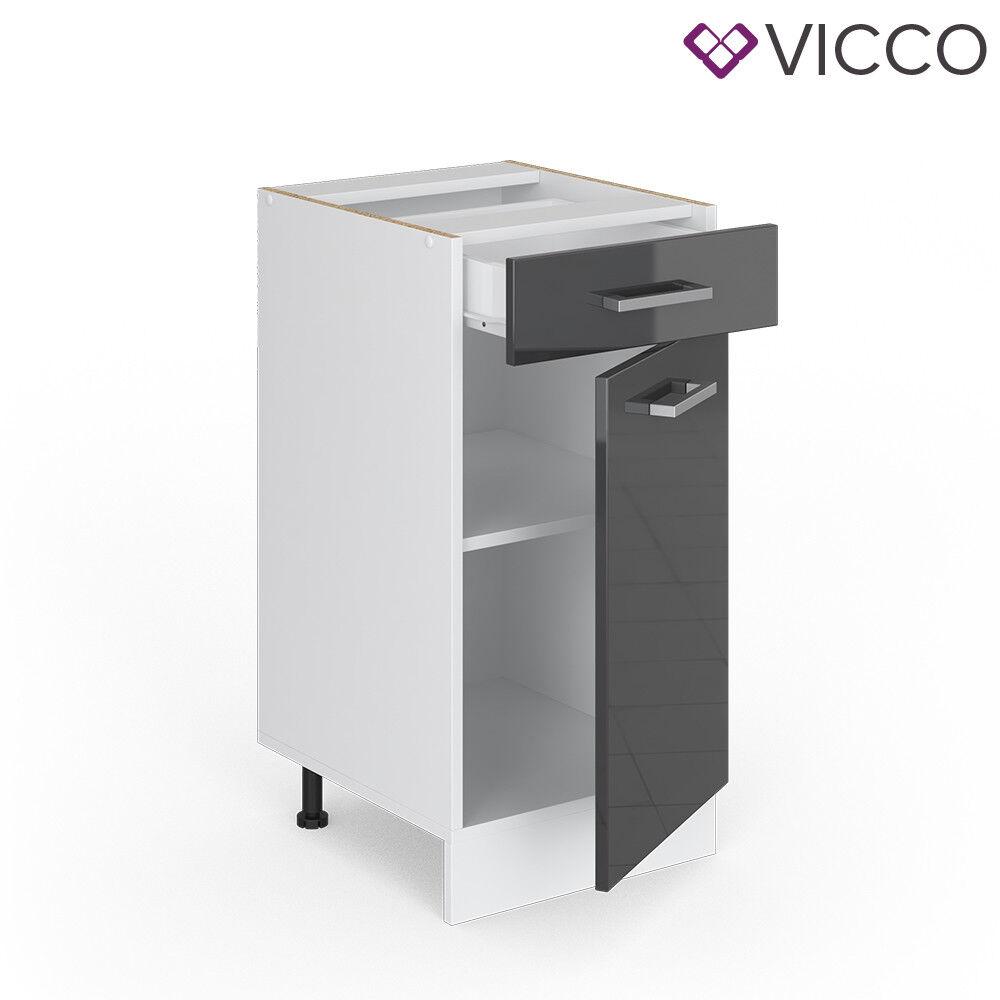 VICCO Küchenschrank Hängeschrank Unterschrank Küchenzeile R-Line Schubunterschrank 40 cm anthrazit