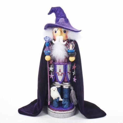 "Kurt Adler Nutcracker Hollywood Purple Wizard 18"""