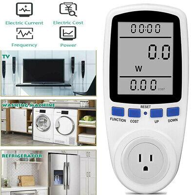 Digital Outlet Power Monitor Watt Amp Volt Kwh Meter Analyzer Saving Energy Us