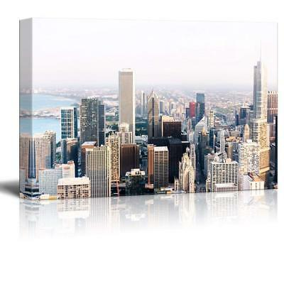 """Wall26 - Cityscape with Buildings Gallery - Canvas Art Wall Decor - 32"""" x 48"""""""