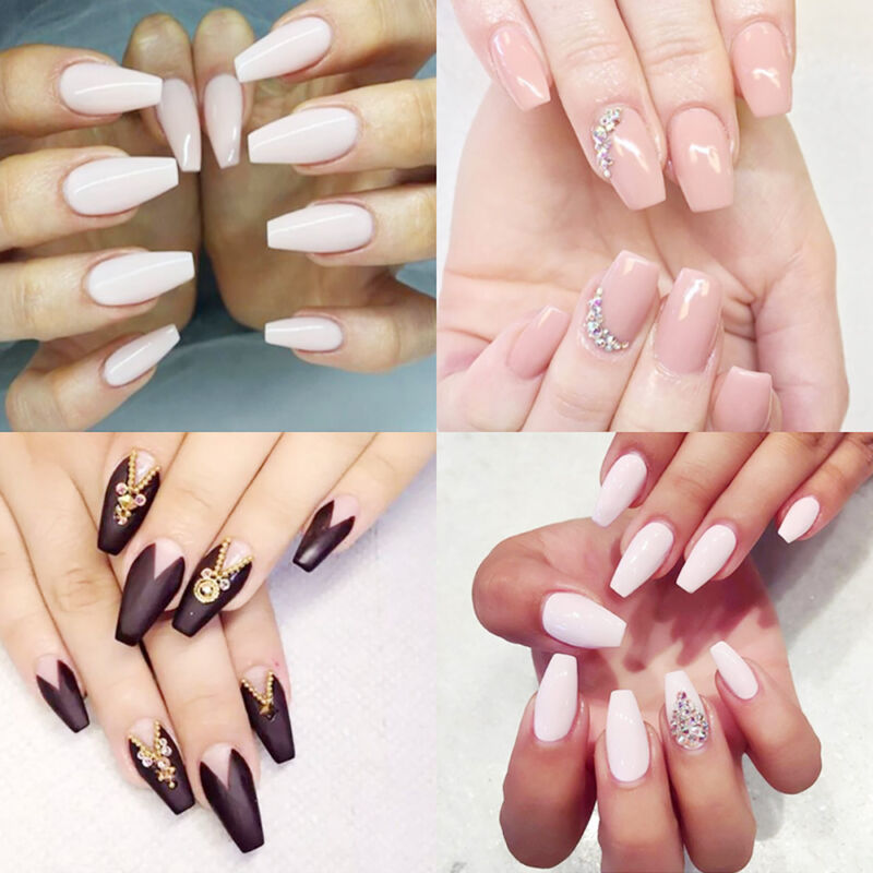 600pcs Fingernägel Kunstnägel Krallentips Künstliche Nails Tips natürliche Nägel