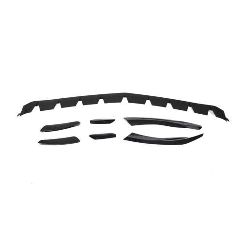 PP Front Bumper Lip Spoiler Fins Splitter Canards For Benz W177 Glossy Black
