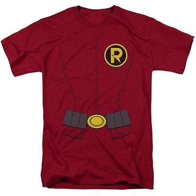 Batman Neu Robin Uniform Kostüm Lizenziert Erwachsenen T-Shirt Alle - Alle Batman Kostüm