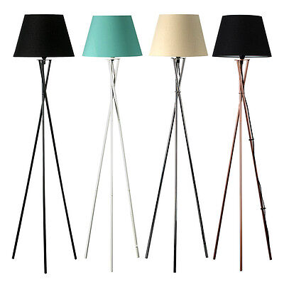 Industrial Retro Tripod Floor Lamp Living Room Bedroom Vintage Light Fitting
