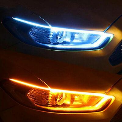 Car Parts - 2Pcs Auto Car Parts Soft Tube LED Strip Daytime Running Lights Turn Signal Lamps