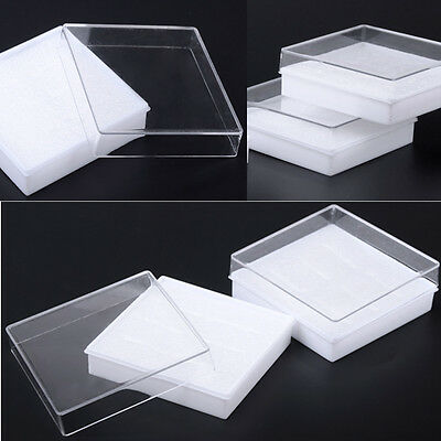 Lot Of 5pcs White Cotton Filled Boxes Jewelry Gift Boxes Bracelet Bangle Boxes