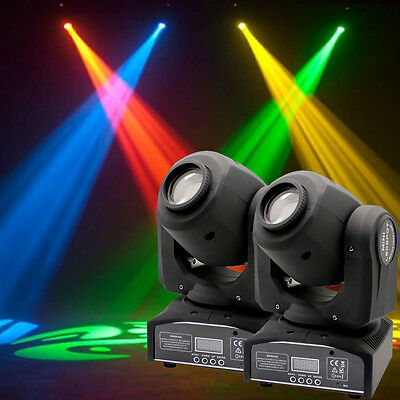 2x 30W Spot GOBO LED RGBW Stage Lighting Moving Head DMX512 Disco DJ Party Light