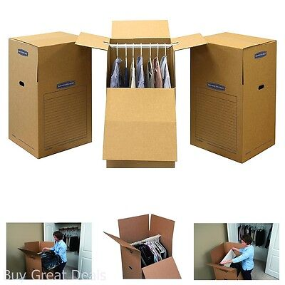 Moving Wardrobe Boxes Box Bundle 3 Pack Space Shorty Saving Storage Reusable