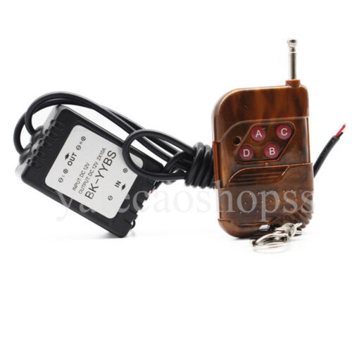 1 Set Dual-Output Wireless Remote Control w// Strobe Solid Lighting Car LED