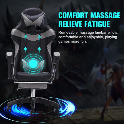 Ergonomic Gaming Racing Chair Computer Desk Swivel Office Executive W Footrest