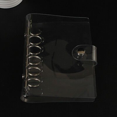 A5a6 Transparent Loose Leaf Ring Binder Notebook Weekly Planner Diary Cover G9