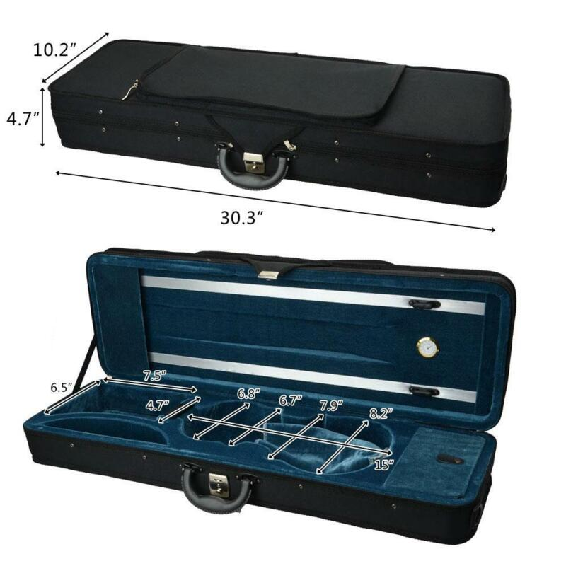 New 4/4 Size Student Music Fashionable Violin Case Black Color