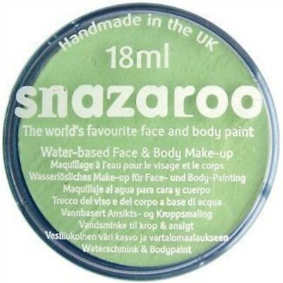18ml Pale Green Snazaroo Classic Face And Body Paint - Face Snazaroo 18 Paint - Pale Face Halloween