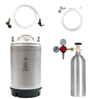 Keg Kit 3 Gal Ball Lock Beer Keg 5 Lb Co2 Tank Regulator Parts - Ships Free