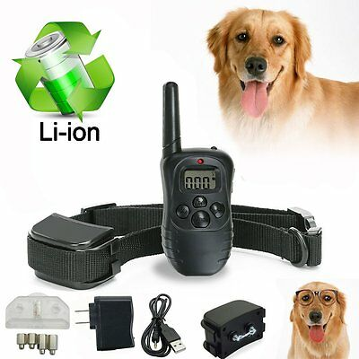 Rechargeable Waterproof Remote LCD Electric Shock Vibrate Dog Training Collar