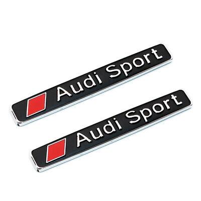 2x Universal Audi Sport Trunk Lid Fender Badge Logo Metal Emblem Gift S Line