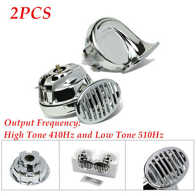Used, Auto Electric Chrome 110dB Pickup Snail Horn High Tone 410Hz and Low Tone 510Hz for sale  Shipping to Canada