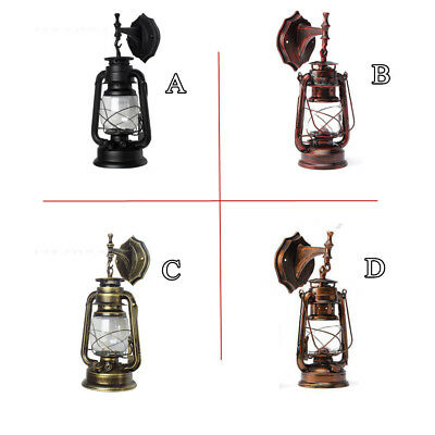 Rustic Outdoor Sconces (Retro Antique Vintage Rustic Lantern Lamp Wall Sconce Light Fixture Outdoor)