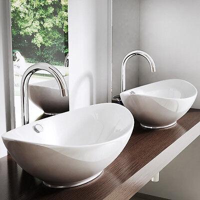 Mit Lotus-Effekt: Formschönes Waschbecken aus Keramik | Aufsatzwaschbecken